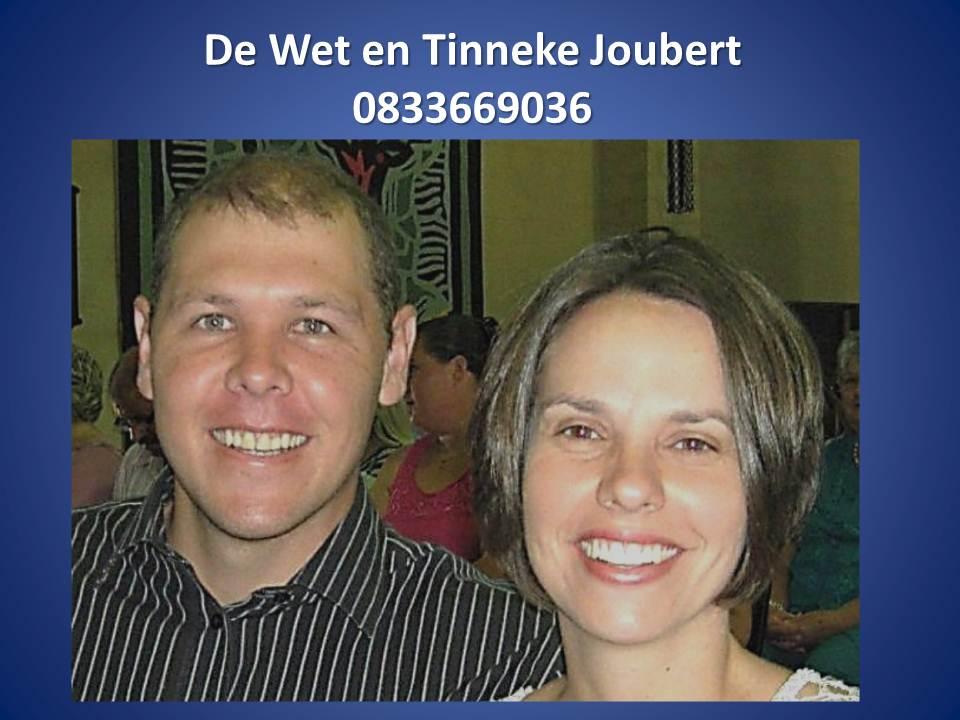 De Wet & Tinneke Joubert
